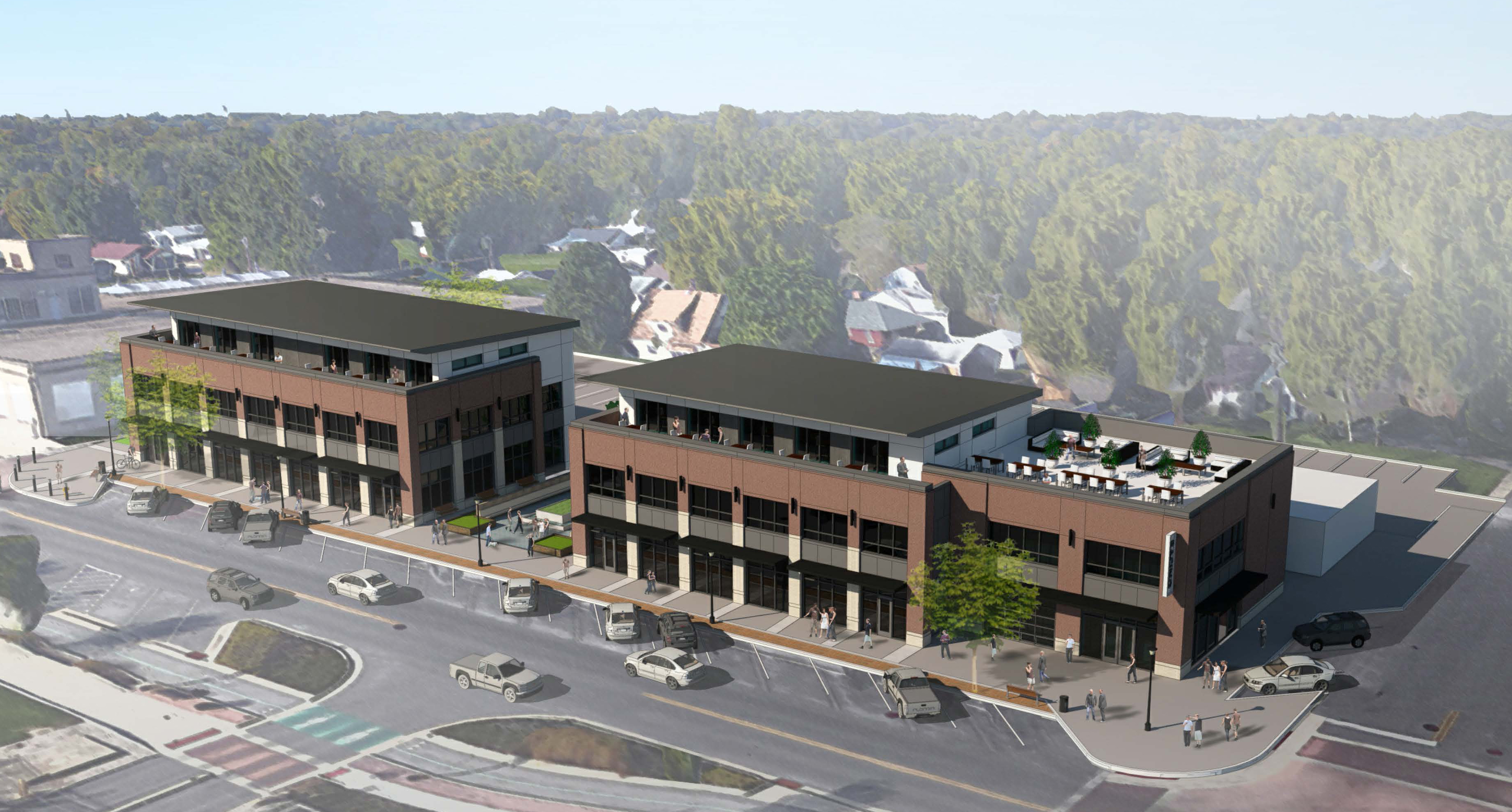 Rendering of a new redevelopment project in Speedway